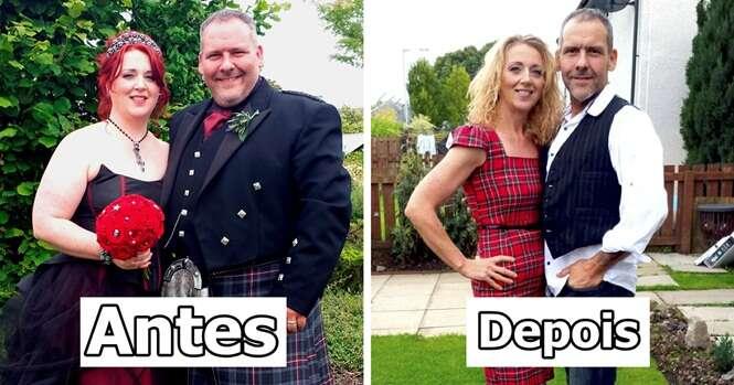 Fotos antes e depois de casais que perderam peso juntos