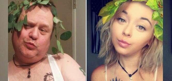 Esse pai faz o maior sucesso recriando selfies da filha