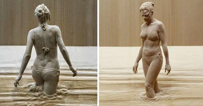 Impressionantes esculturas de madeira que estão prestes a vir à vida