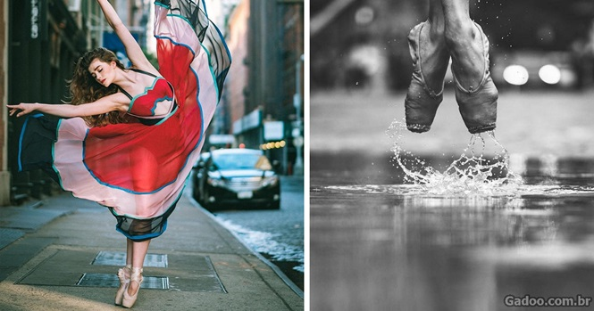 Fotos impressionantes mostram bailarinos dançando nas ruas de Nova York