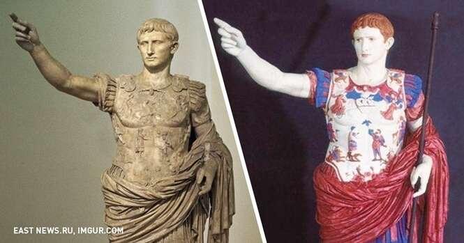 Isto é como as antigas estátuas gregas realmente se pareciam