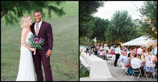 Vizinhos transformam rua comum em um lindo casamento