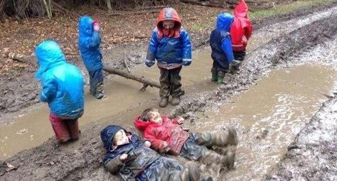 Crianças que tiveram um passeio fantástico