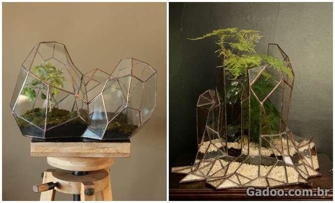 Artista cria pequenos vasos e escultas inspirado nos terrários