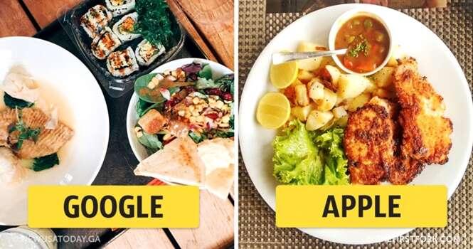 Como são os pratos servidos nas maiores empresas do planeta