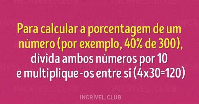 Truques simples que vão te ajudar com a matemática