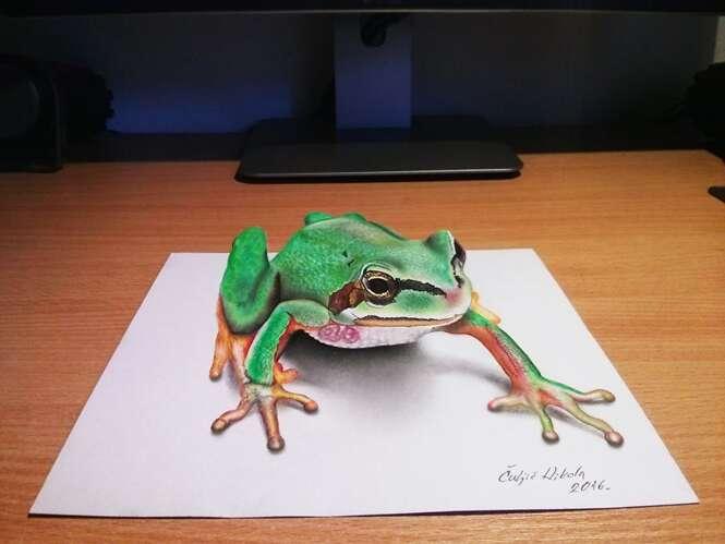 Artista cria desenhos em 3D capazes de confundir qualquer pessoa