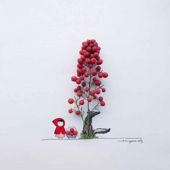 Artista transforma flores e objetos do cotidiano em arte