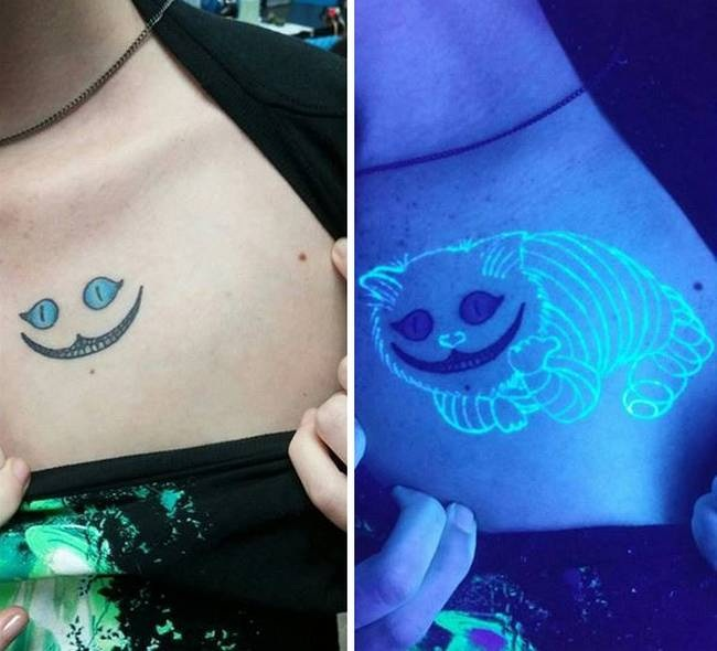Dicas de tatuagens que tem o poder de brilhar no escuro