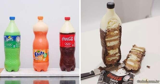 Confeiteiro australiano cria bolos inspirados em garrafas de refrigerante