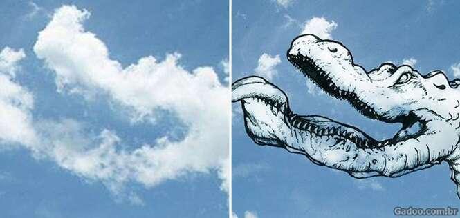 Desenhos das nuvens que se tornaram ilustrações de verdade