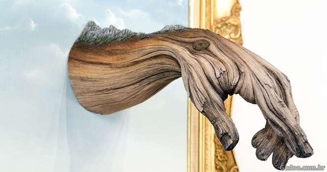 """Artista cria esculturas de """"madeira"""" que vão te impressionar"""