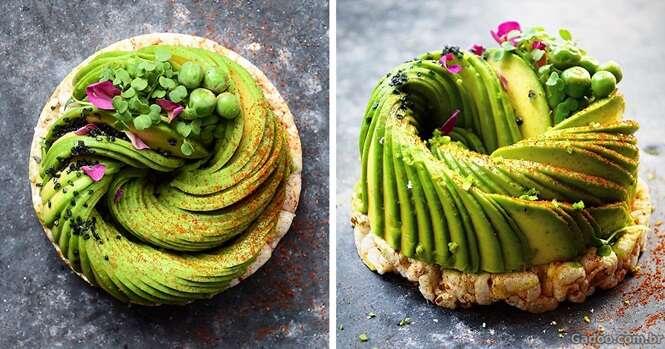 Blogueira usa abacates para criar obras-primas comestíveis