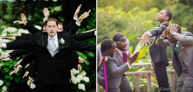 Fotos de noivos que mitaram durante seus casamentos