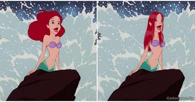 Como seriam as princesas da Disney se tivessem cabelos reais