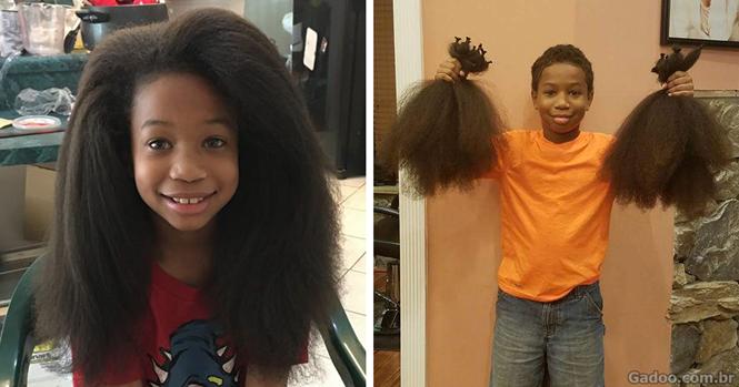 Este menino passou 2 anos deixando seu cabelo crescer para fazer peruca para crianças com câncer