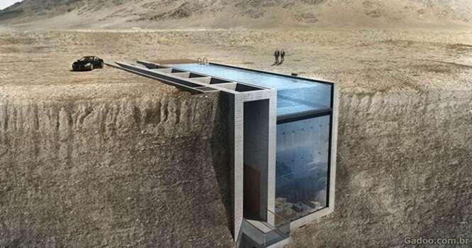 Você vai enlouquecer com a vista desta casa na beira do precipício