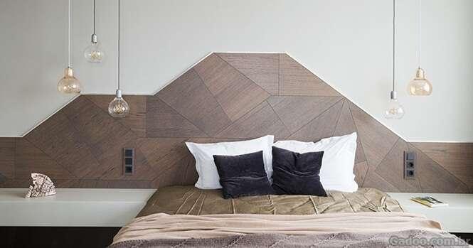 Essa cabeceira com design diferente é tudo que você vai querer no seu quarto agora