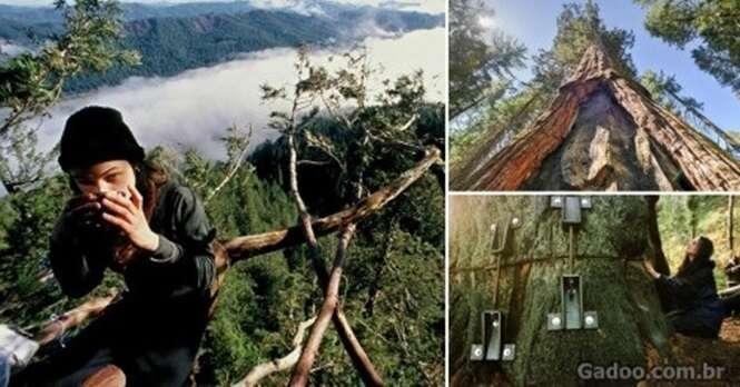 Essa jovem passou 2 anos em uma árvore para evitar que ela fosse cortada