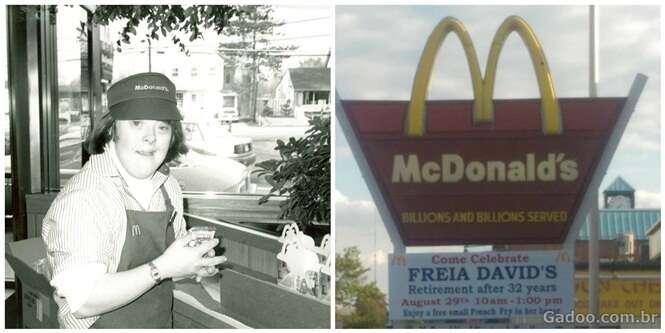 Após 32 anos de trabalho, empregado do McDonald's tem uma comovente despedida