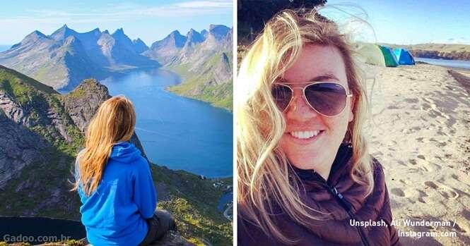 Esta mulher costuma viajar sozinha e afirma que isso fortalece seu casamento