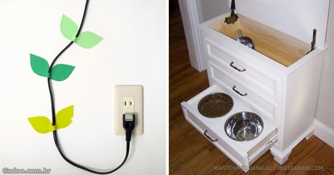 Maneiras simples de esconder coisas irritantes dentro de casa