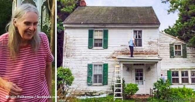 Vizinhos consertam secretamente casa caindo aos pedaços de professora aposentada