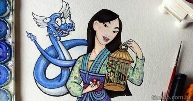 Artista transforma amigos de princesas Disney em Pokémons