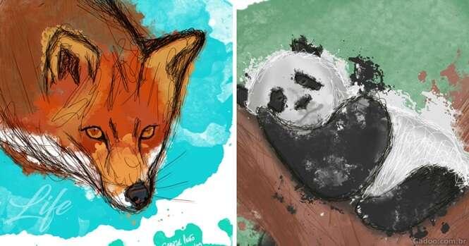 Artista ilustra animais ameaçados de extinção para incentivar a proteção