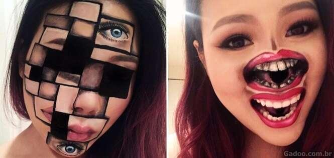 Fotos que revelam porque essa maquiadora faz sucesso na internet