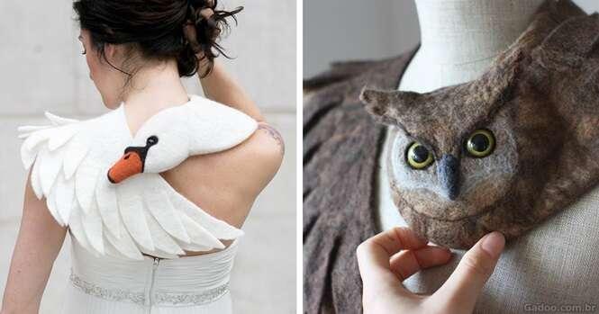 Estes lenços de animais super reais envolvem o pescoço para protegê-lo