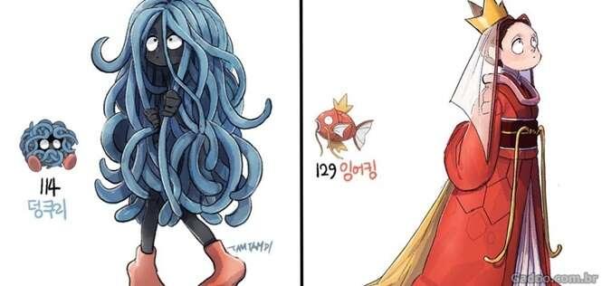 Pokémons se fossem pessoas reais