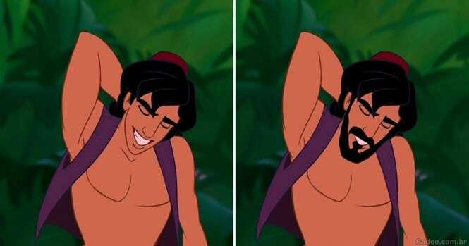 Imagens provando que com barba os príncipes viram homens de verdade