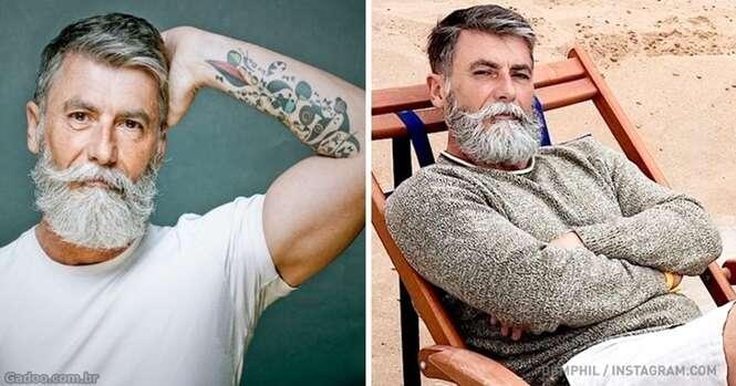 Este homem de 60 anos deixou a barba crescer e se tornou modelo