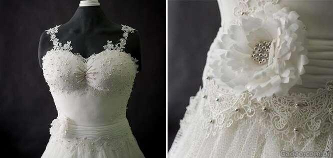 Você jamais usaria este vestido de noiva no seu casamento. Saiba o motivo