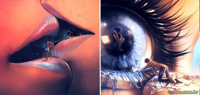 Ilustrações impressionantes misturando a realidade ao absurdo
