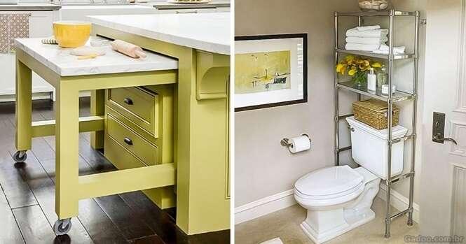 Ideias excelentes para ter mais espaço em sua casa