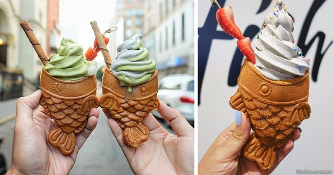 Os nova-iorquinos estão enlouquecendo com esses sorvetes-peixe