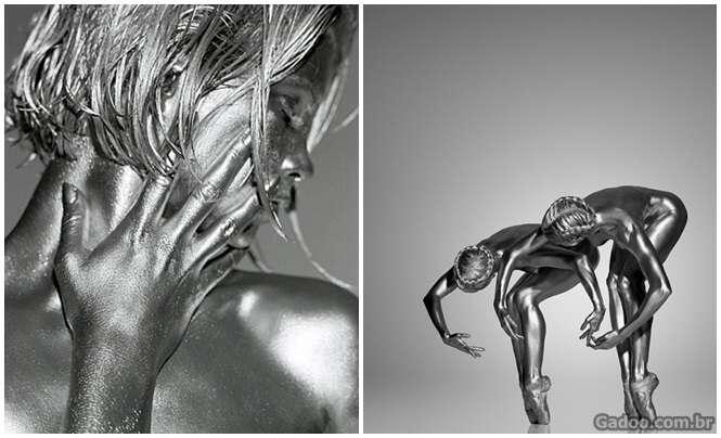 Fotógrafo talentoso transforma as pessoas em verdadeiras estátuas vivas