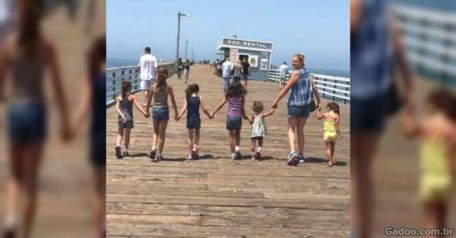 Jovem mulher adota 6 irmãs para que elas não fossem separadas