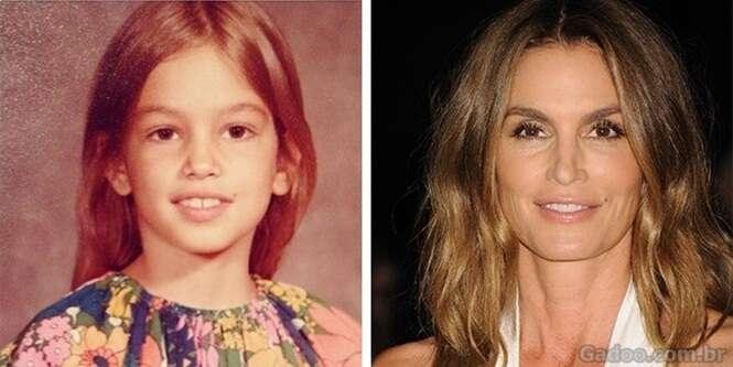 Modelos famosas quando eram crianças
