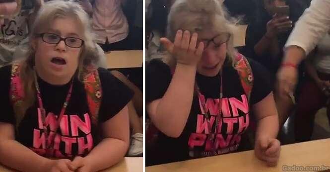 Garota vai às lágrimas após ser convidada para ir a baile de maneira especial