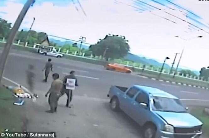 Vídeo: espírito de vítima de acidente de trânsito sai do corpo