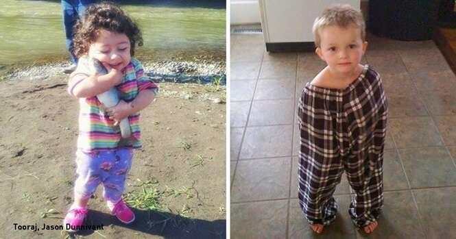 Fotos provando que não há tédio quando as crianças estão por perto
