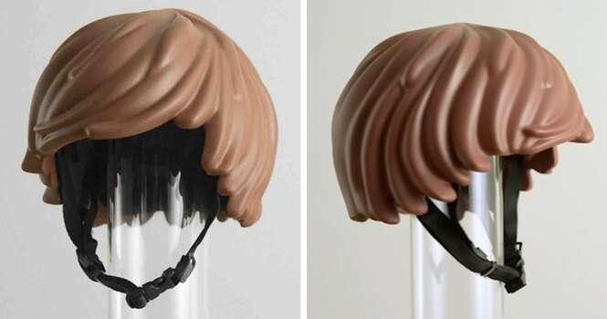Com este capacete estilo LEGO você se sentirá um ciclista de brinquedo