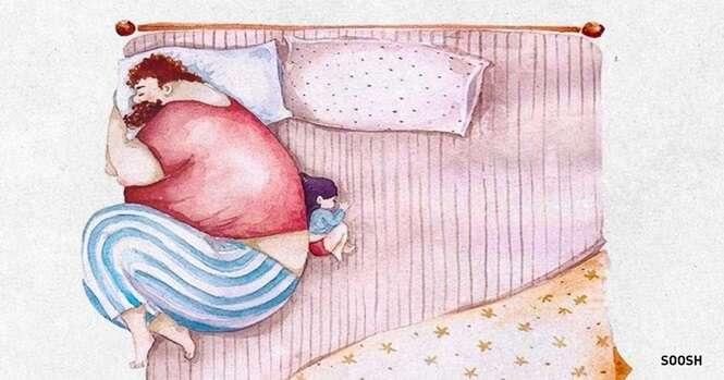 Ilustrações absolutamente adoráveis mostrando a relação entre pai e filha