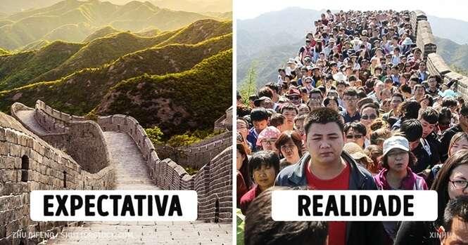 Expectativa x Realidade em 15 famosas atrações turísticas