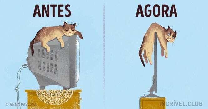 Imagens mostrando como o mundo está diferente