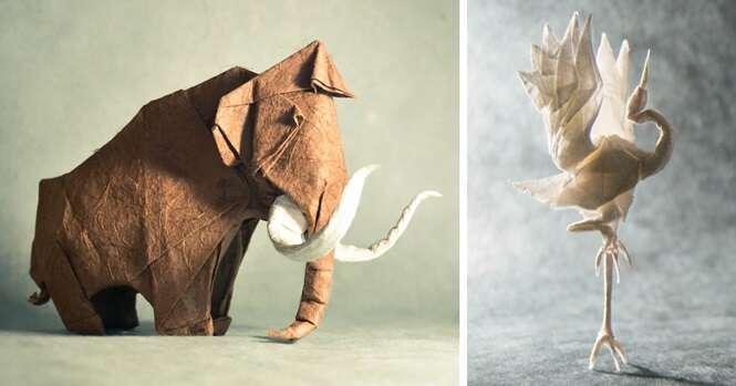 Incríveis origamis de animais que vão te impressionar