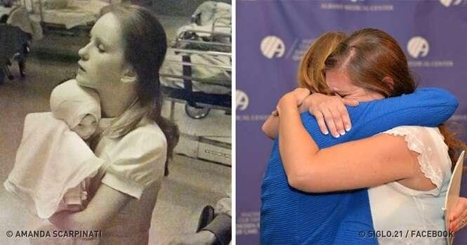 Mulher reencontra enfermeira que salvou sua vida há 38 anos